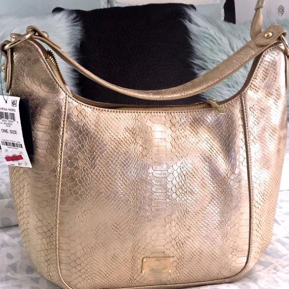 6a208527c INC International Concepts Bags | Inc Surena Metallic Gold Faux ...